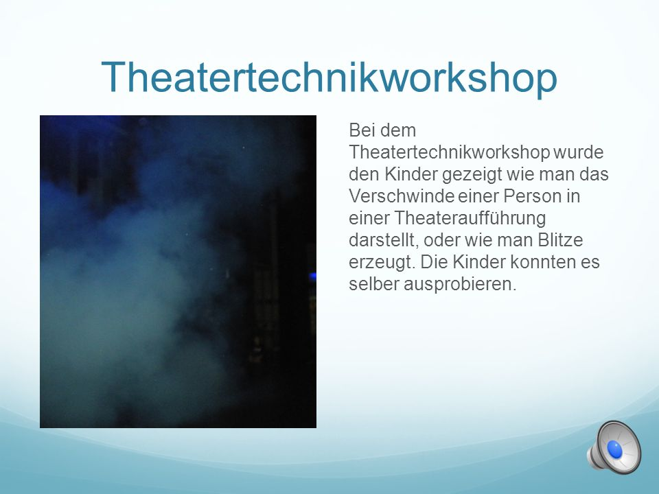 Theatertechnikworkshop