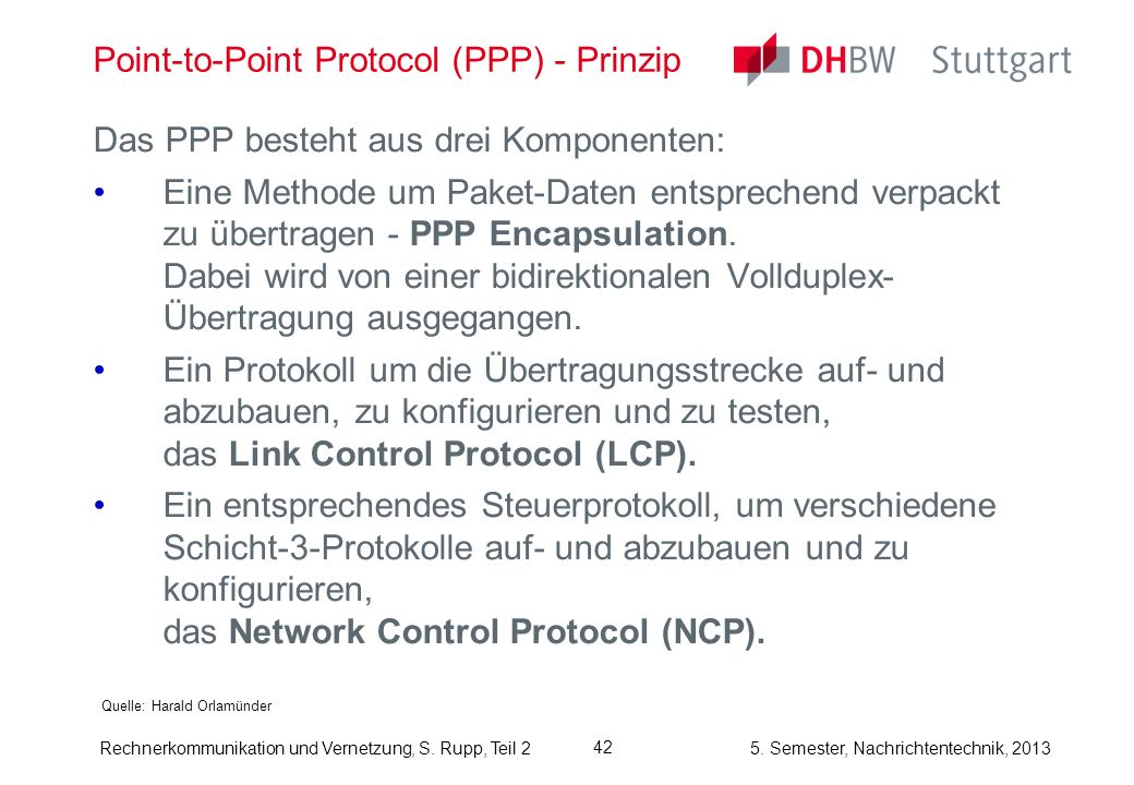 Point-to-Point Protocol (PPP) - Prinzip