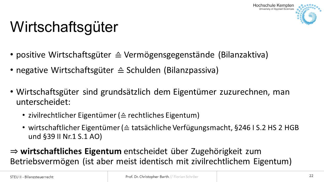 Steuern II - Bilanzsteuerrecht - ppt herunterladen