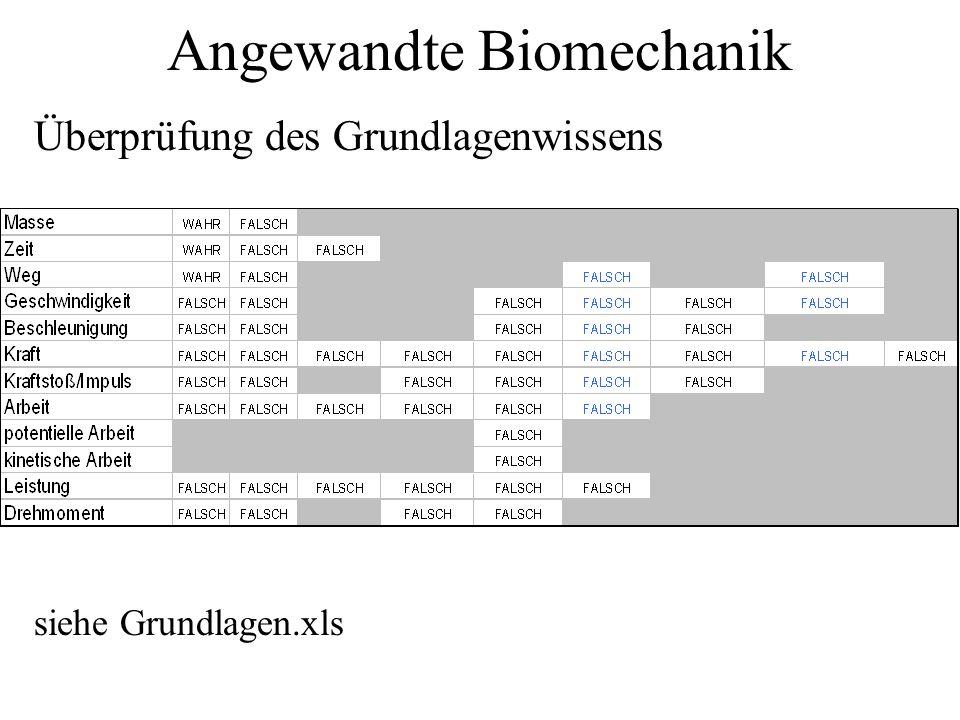 Angewandte Biomechanik - ppt herunterladen