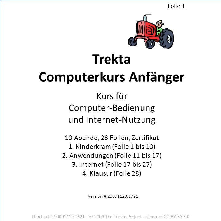 Trekta Computerkurs Anfänger - ppt herunterladen