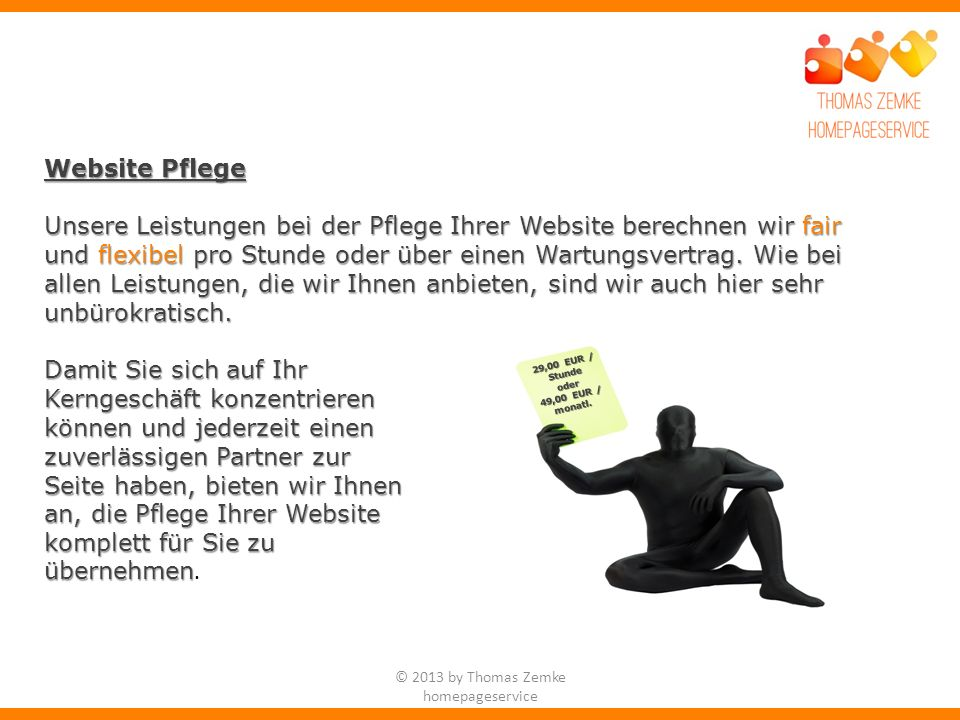 © 2013 by Thomas Zemke homepageservice
