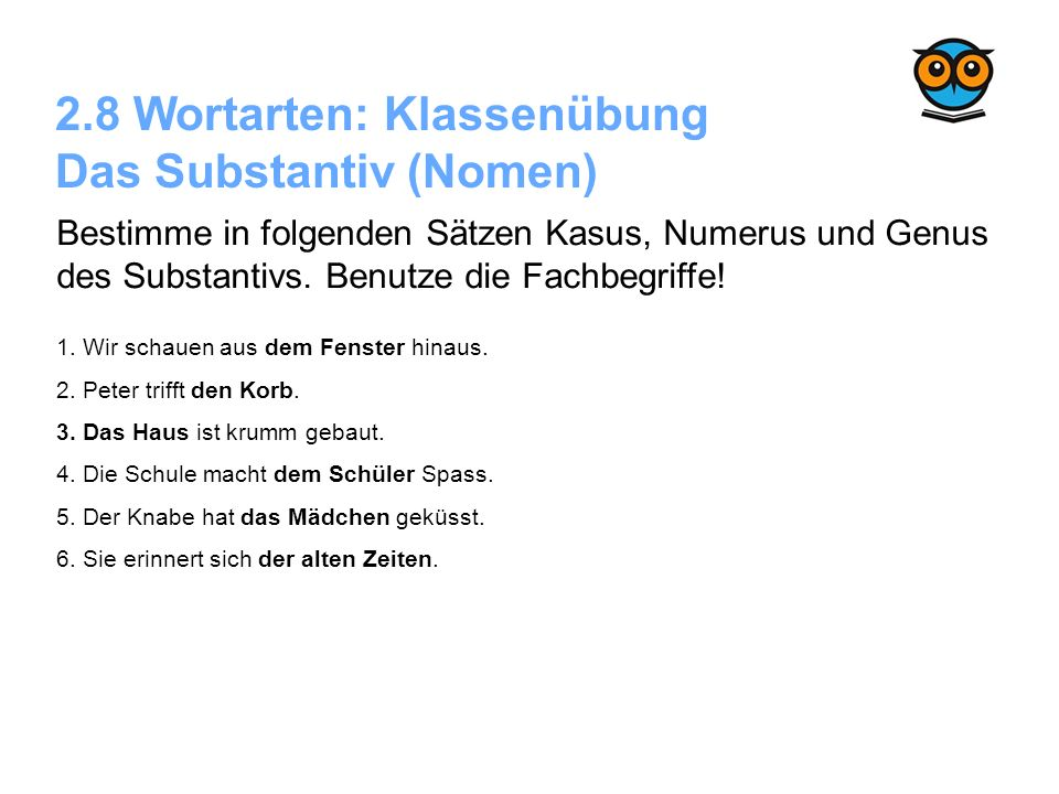 Deutsch Grammatik Sekundarstufe 1 Die 5 Wortarten - ppt video online ...