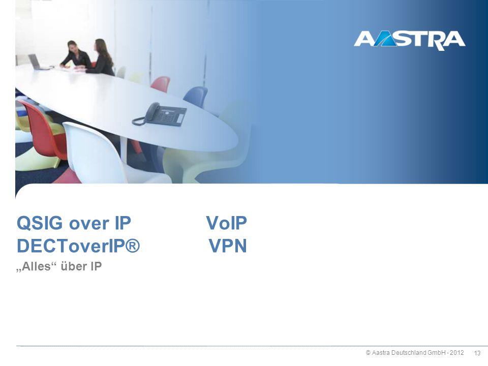 QSIG over IP VoIP DECToverIP® VPN
