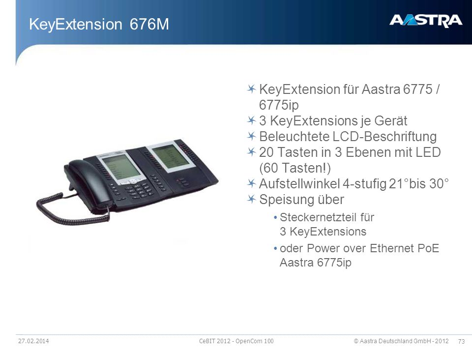 KeyExtension 676M KeyExtension für Aastra 6775 / 6775ip