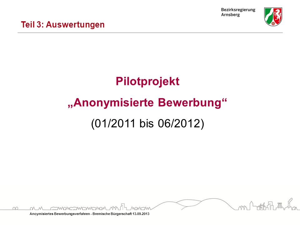 anonymisierte bewerbung - Anonymisierte Bewerbung