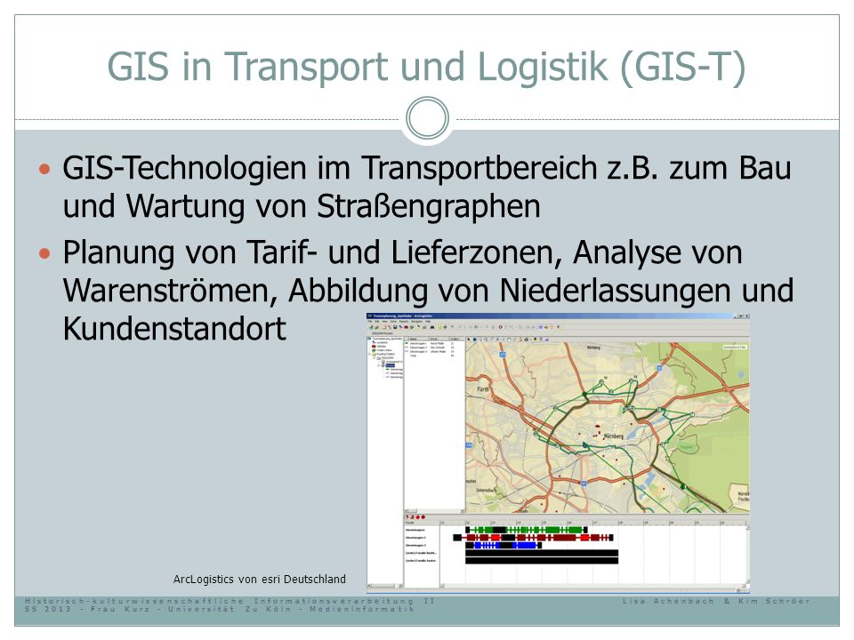 GIS in Transport und Logistik (GIS-T)