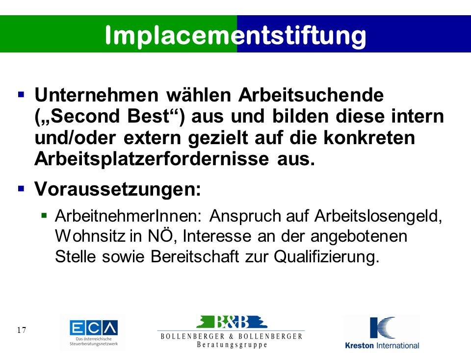 Implacementstiftung