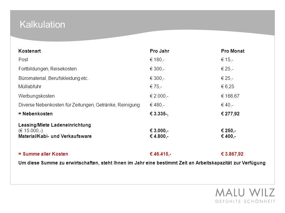 Kalkulation Behandlungspreise richtig kalkulieren - ppt herunterladen