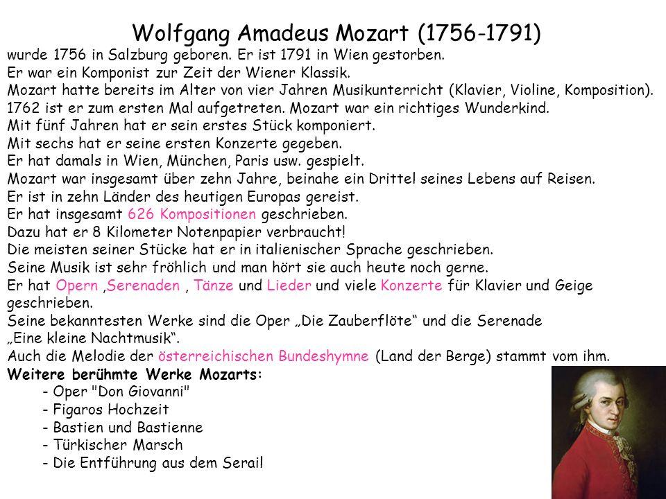 Mozart For Kids Mozart Fur Kinder Biography Lebenslauf