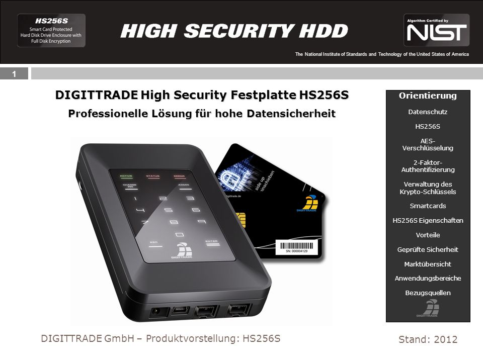 DIGITTRADE High Security Festplatte HS256S