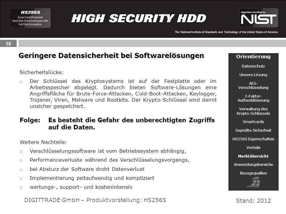 Geringere Datensicherheit bei Softwarelösungen