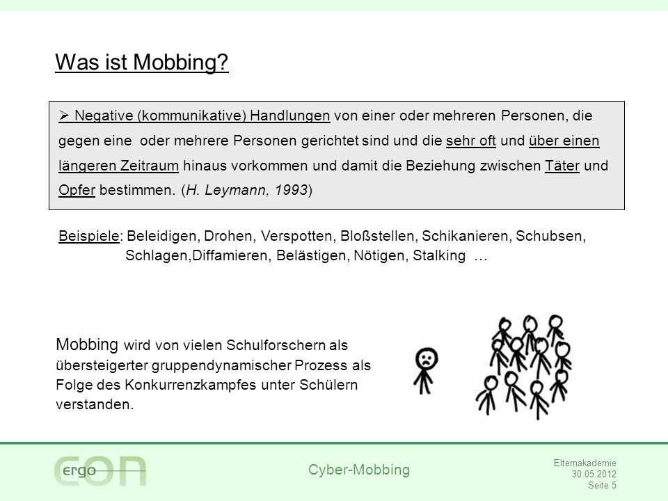 28.03.2017 Was ist Mobbing