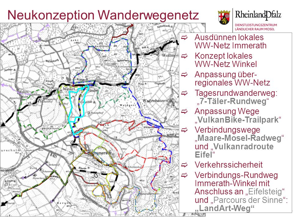 Neukonzeption Wanderwegenetz