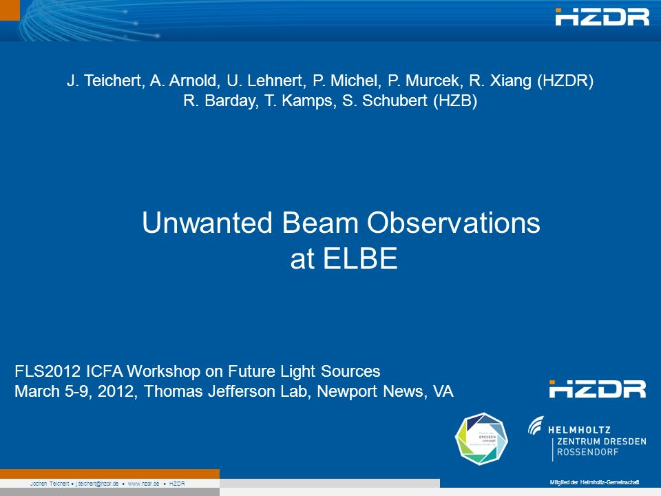 Unwanted Beam Observations at ELBE