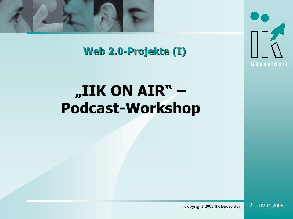 """IIK ON AIR – Podcast-Workshop"