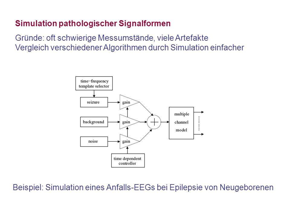 Simulation pathologischer Signalformen