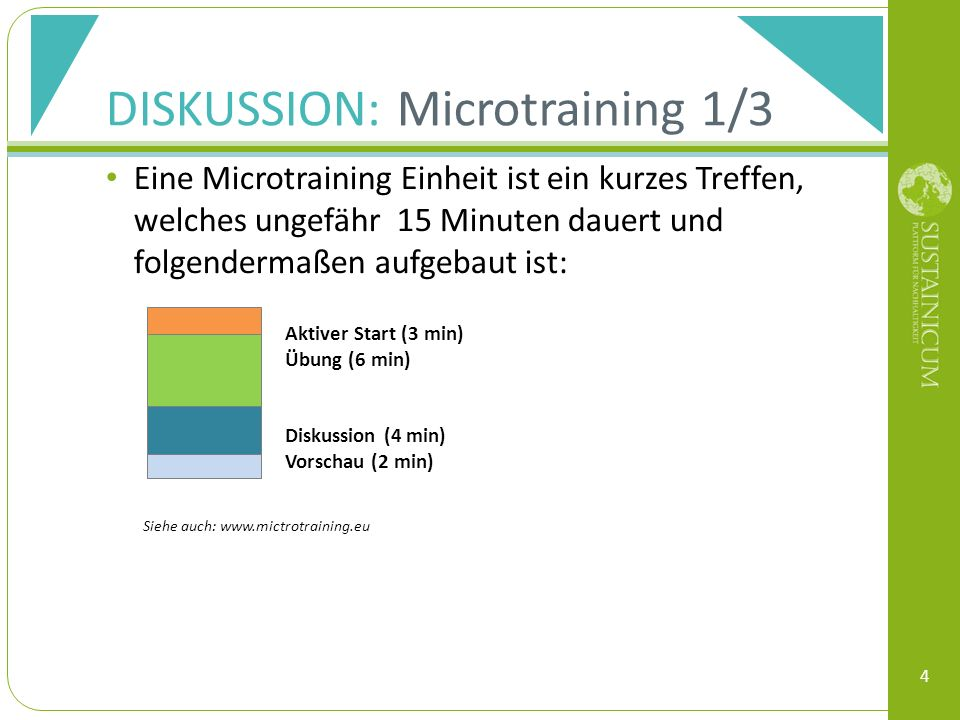 DISKUSSION: Microtraining 1/3