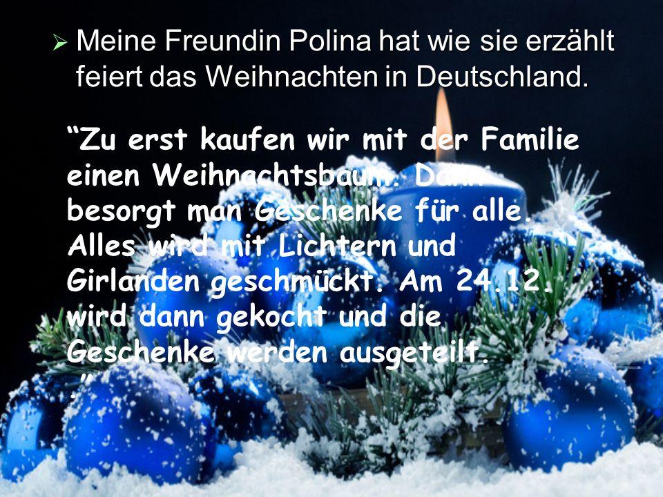 Wie feiern Weihnachten Jugendliche in Deutschland - ppt ...