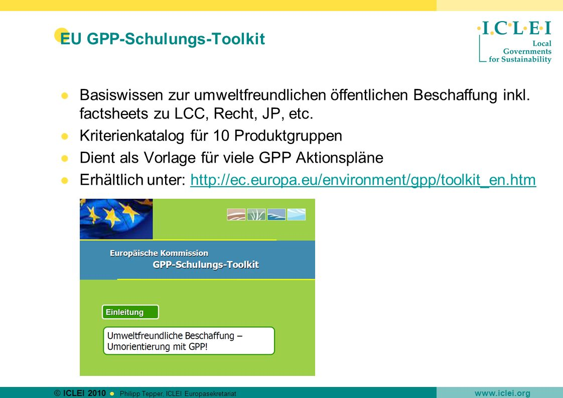 EU GPP-Schulungs-Toolkit