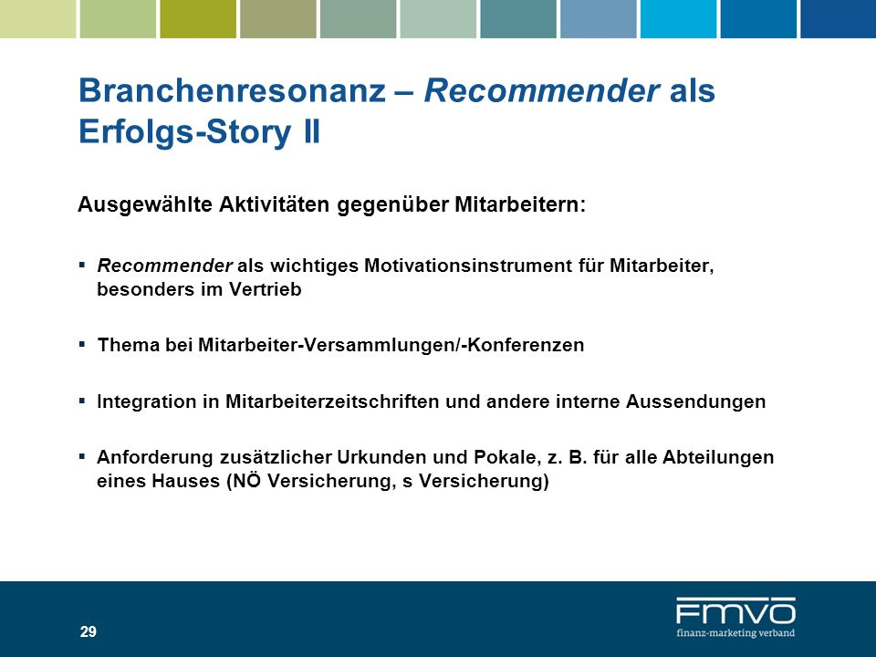 Branchenresonanz – Recommender als Erfolgs-Story II