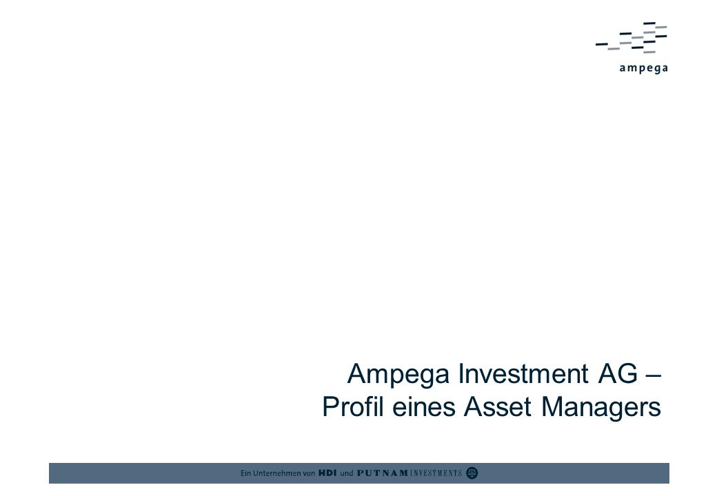 Ampega Investment AG – Profil eines Asset Managers