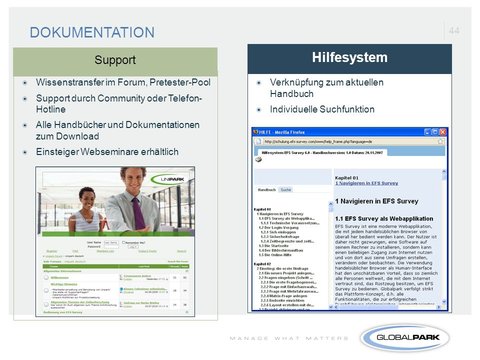 DOKUMENTATION Hilfesystem Support