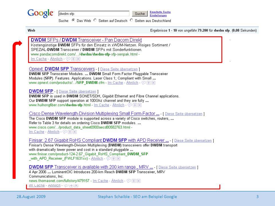 Relevante Faktoren für eine Top-Platzierung am Beispiel von Google ...