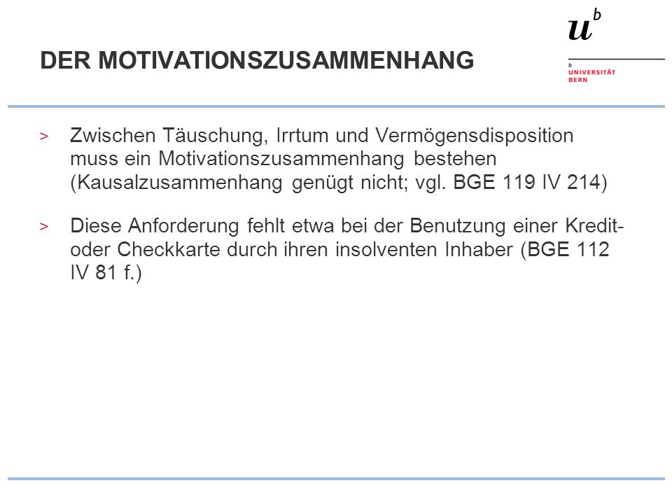 DER MOTIVATIONSZUSAMMENHANG