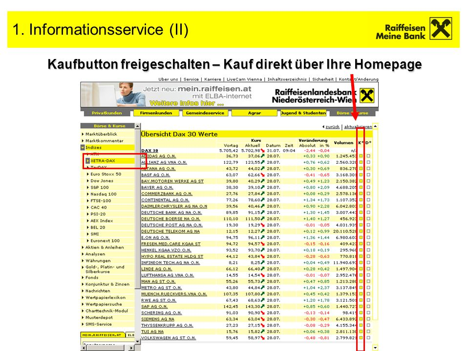 1. Informationsservice (II)