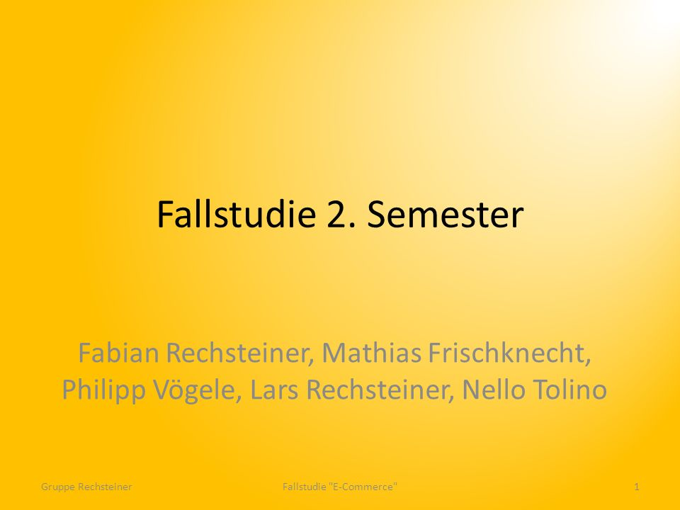 Fallstudie E-Commerce