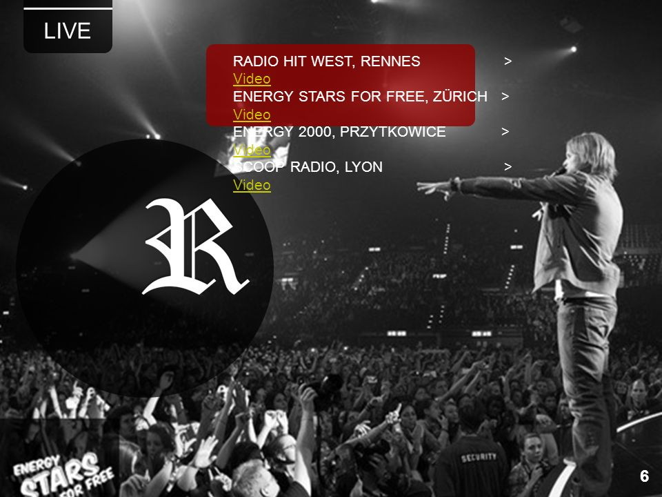 LIVE 6 RADIO HIT WEST, RENNES > Video