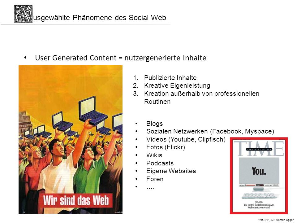 User Generated Content = nutzergenerierte Inhalte