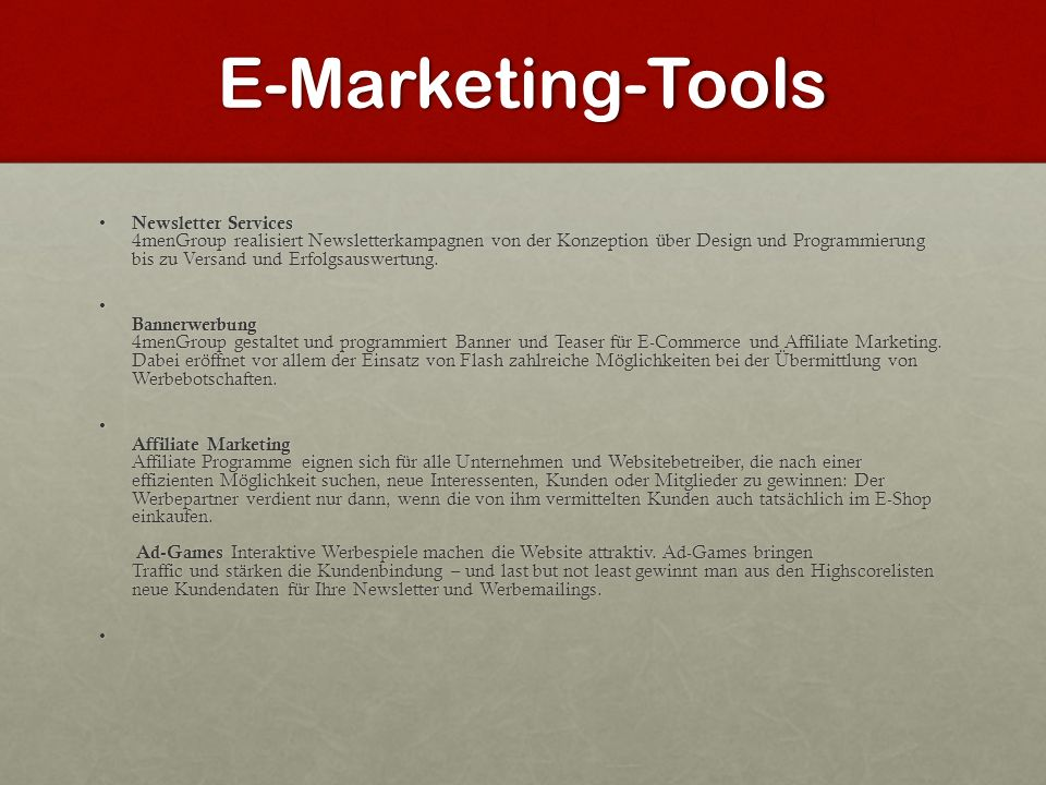 E-Marketing-Tools