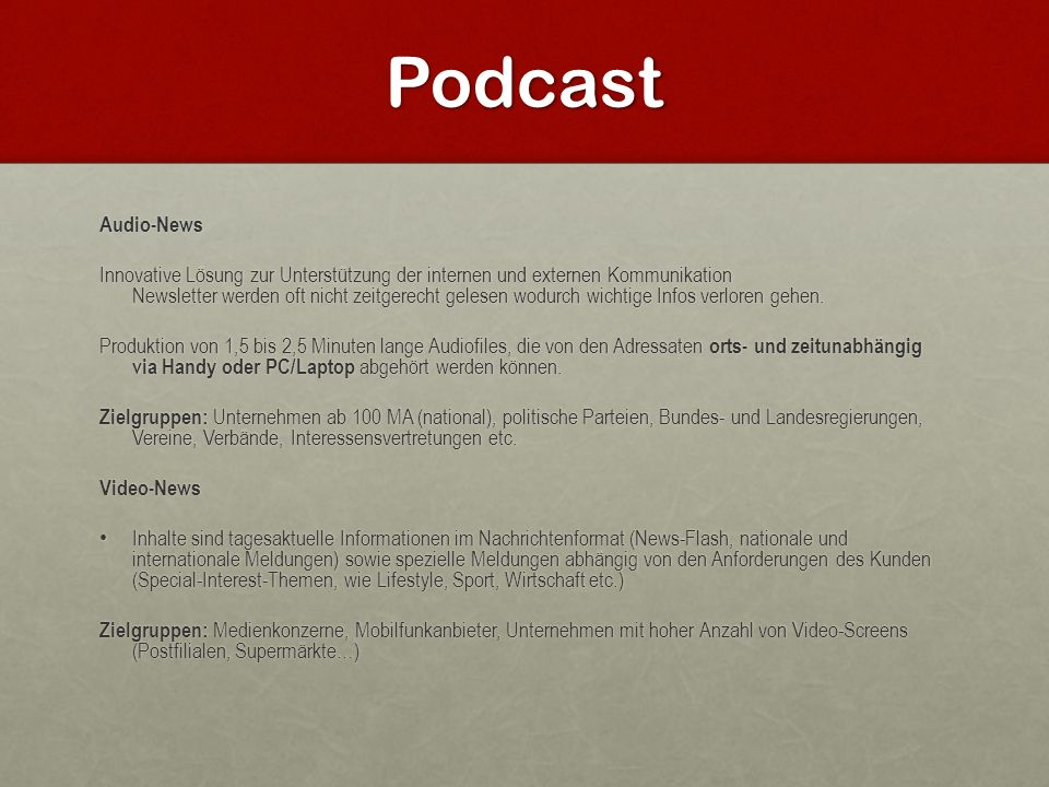 Podcast Audio-News.