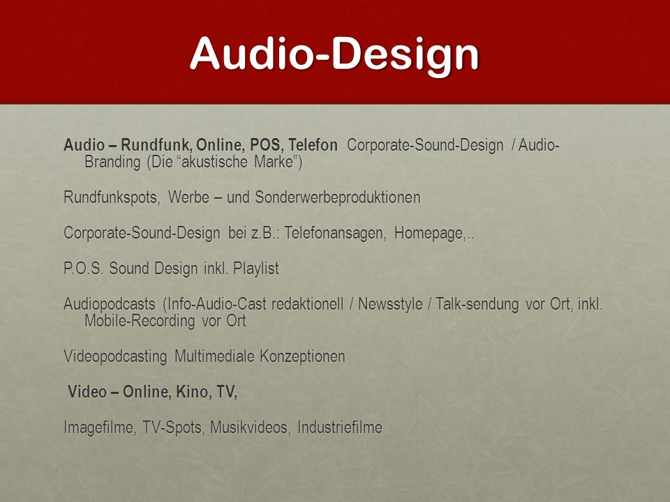 Audio-Design