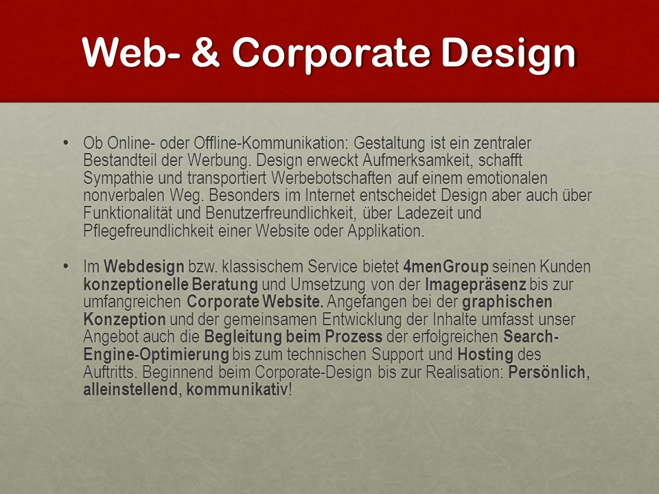 Web- & Corporate Design