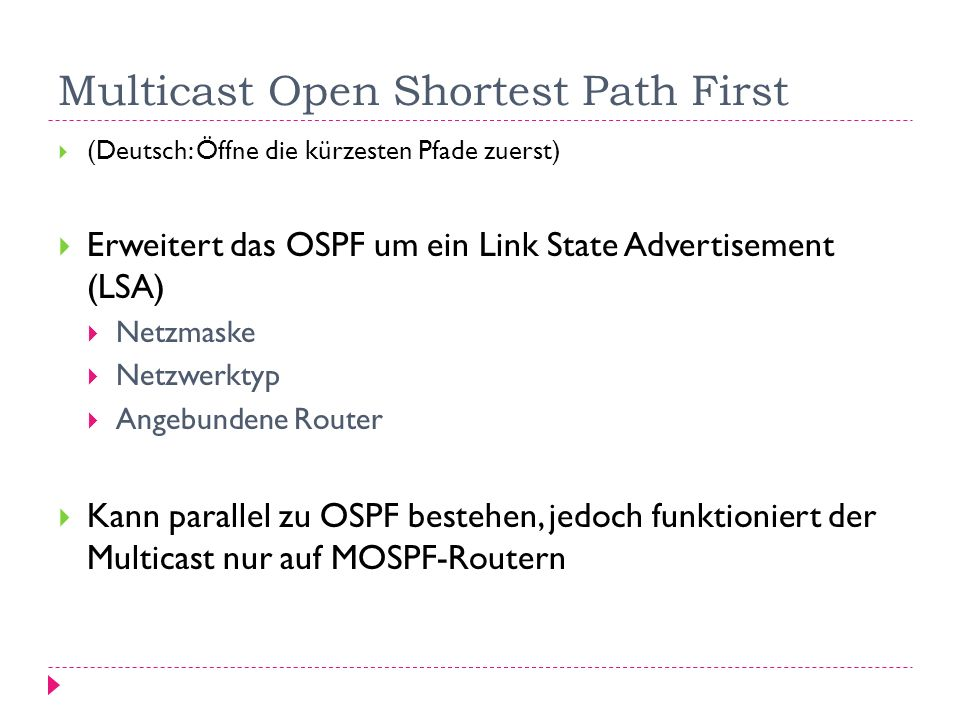 Multicast Open Shortest Path First