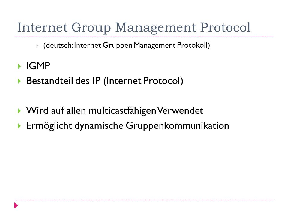 Internet Group Management Protocol