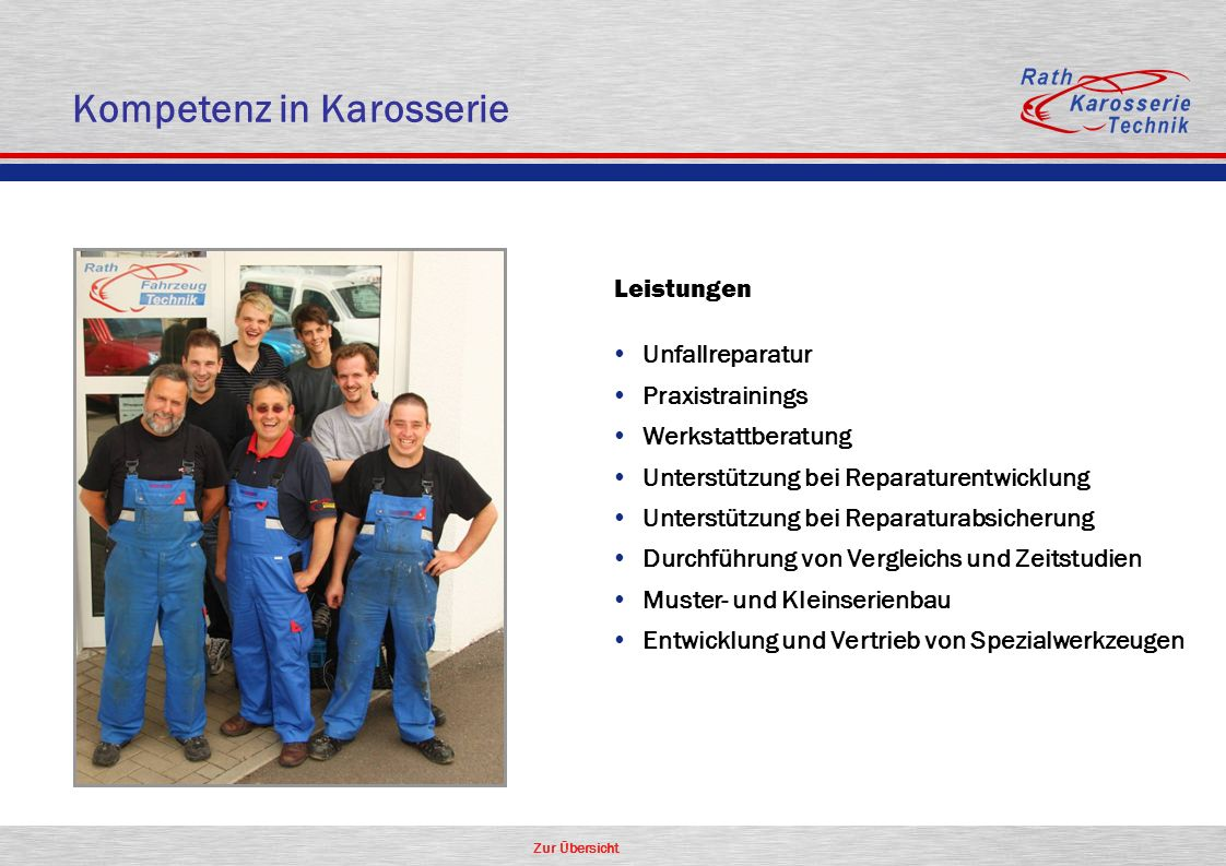 3 kompetenz in karosserie - Firmenprasentation Muster