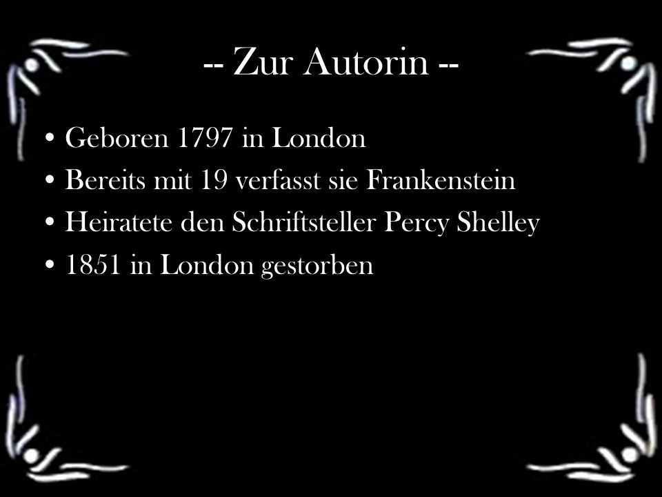 -- Zur Autorin -- Geboren 1797 in London