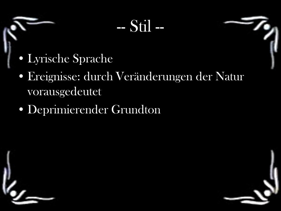 -- Stil -- Lyrische Sprache
