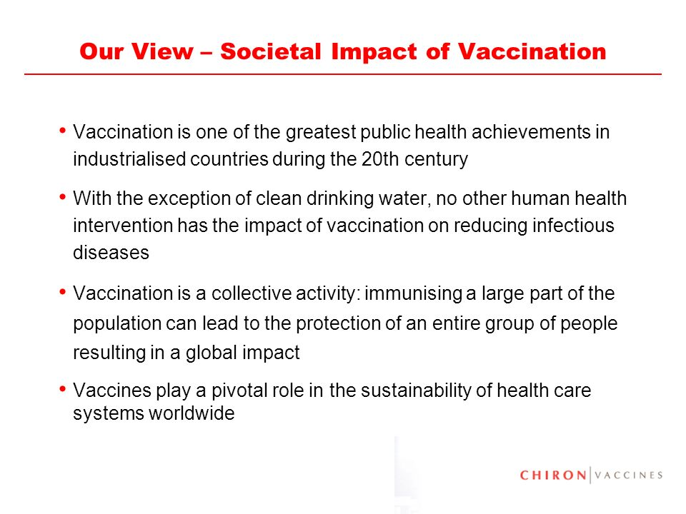 Our View – Societal Impact of Vaccination