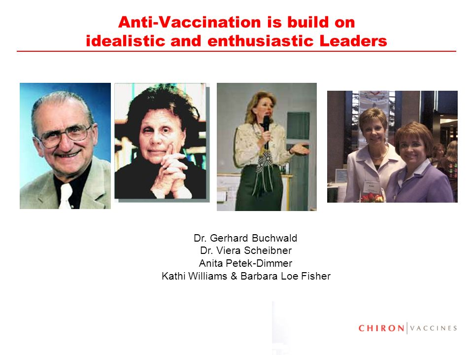 Anti-Vaccination is build on idealistic and enthusiastic Leaders