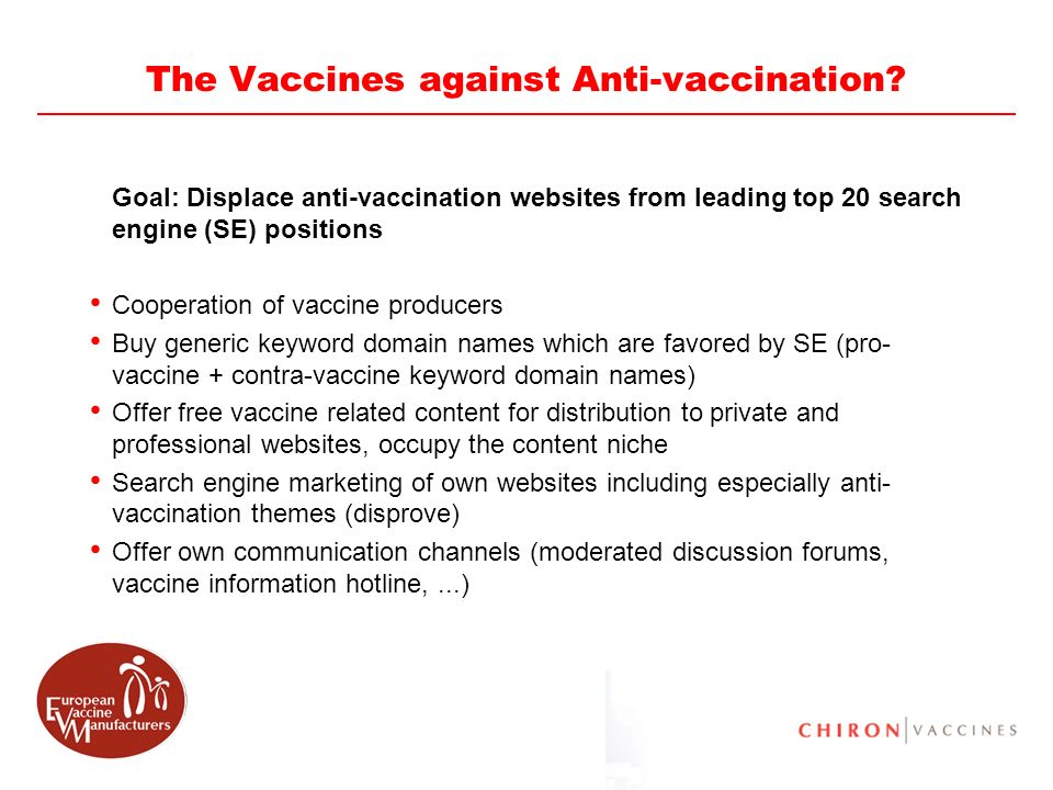 The Vaccines against Anti-vaccination