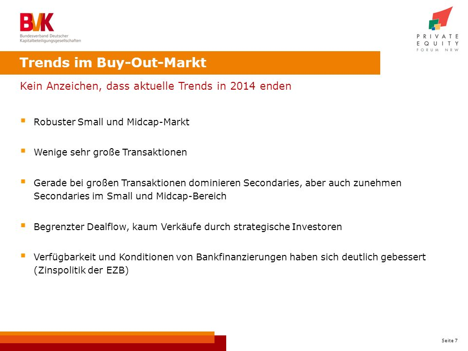 Trends im Buy-Out-Markt