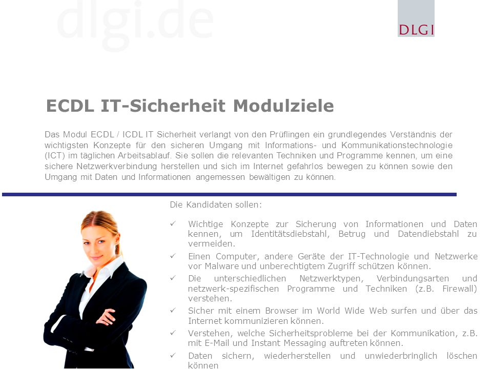 ECDL IT-Sicherheit Modulziele