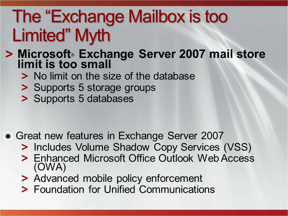 The Exchange Mailbox is too Limited Myth