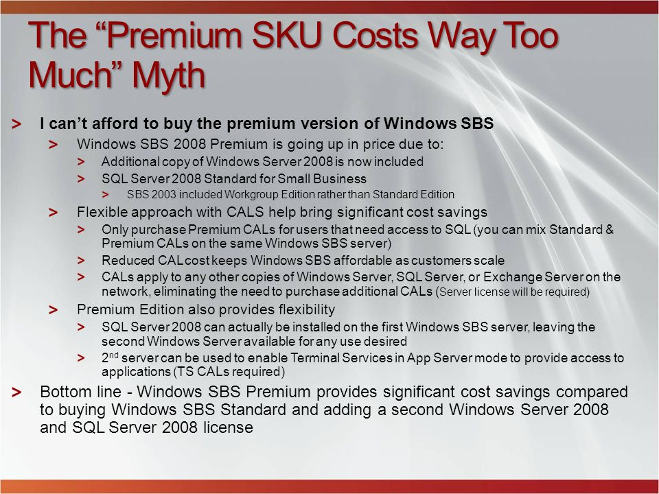 The Premium SKU Costs Way Too Much Myth