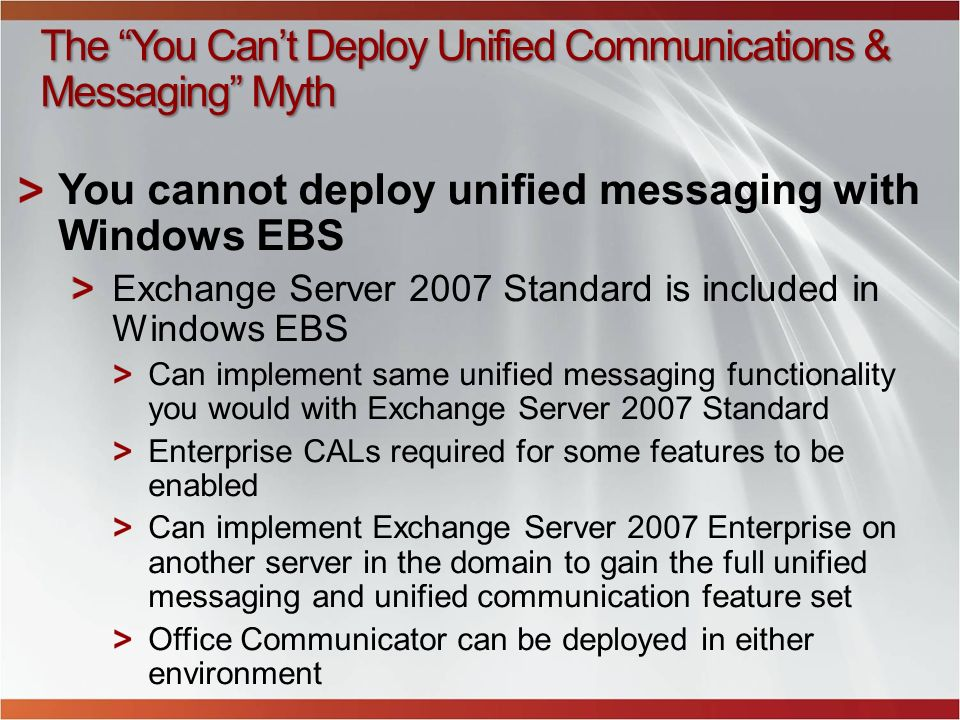 The You Can't Deploy Unified Communications & Messaging Myth